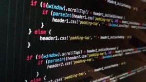 Screen shot of javascript web-coding to enhance SEO